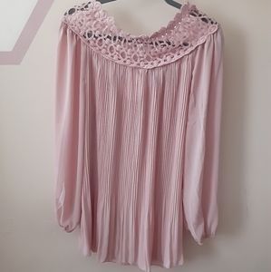 Simply Couture Embellished Neckline Blouse